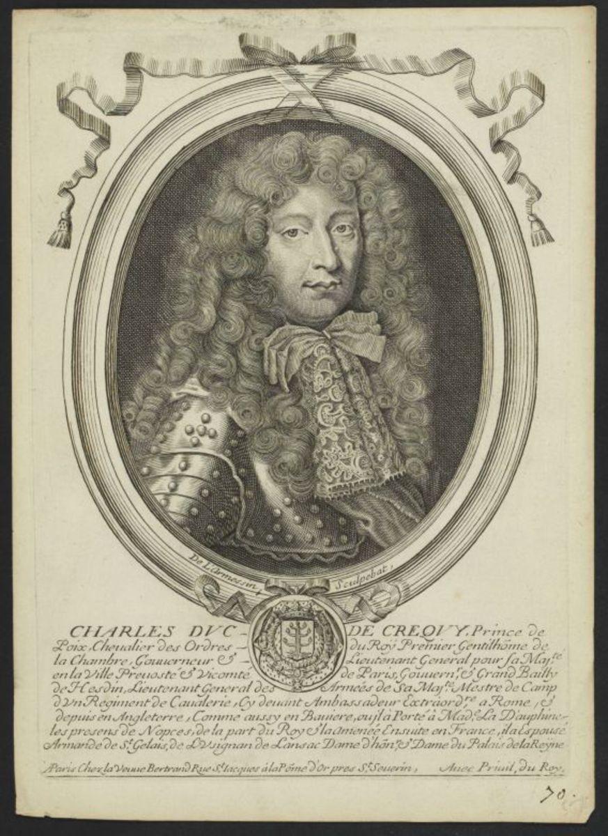 Charles duc de Crequy, prince de Poix, chevalier des Ordres du Roi Estampe