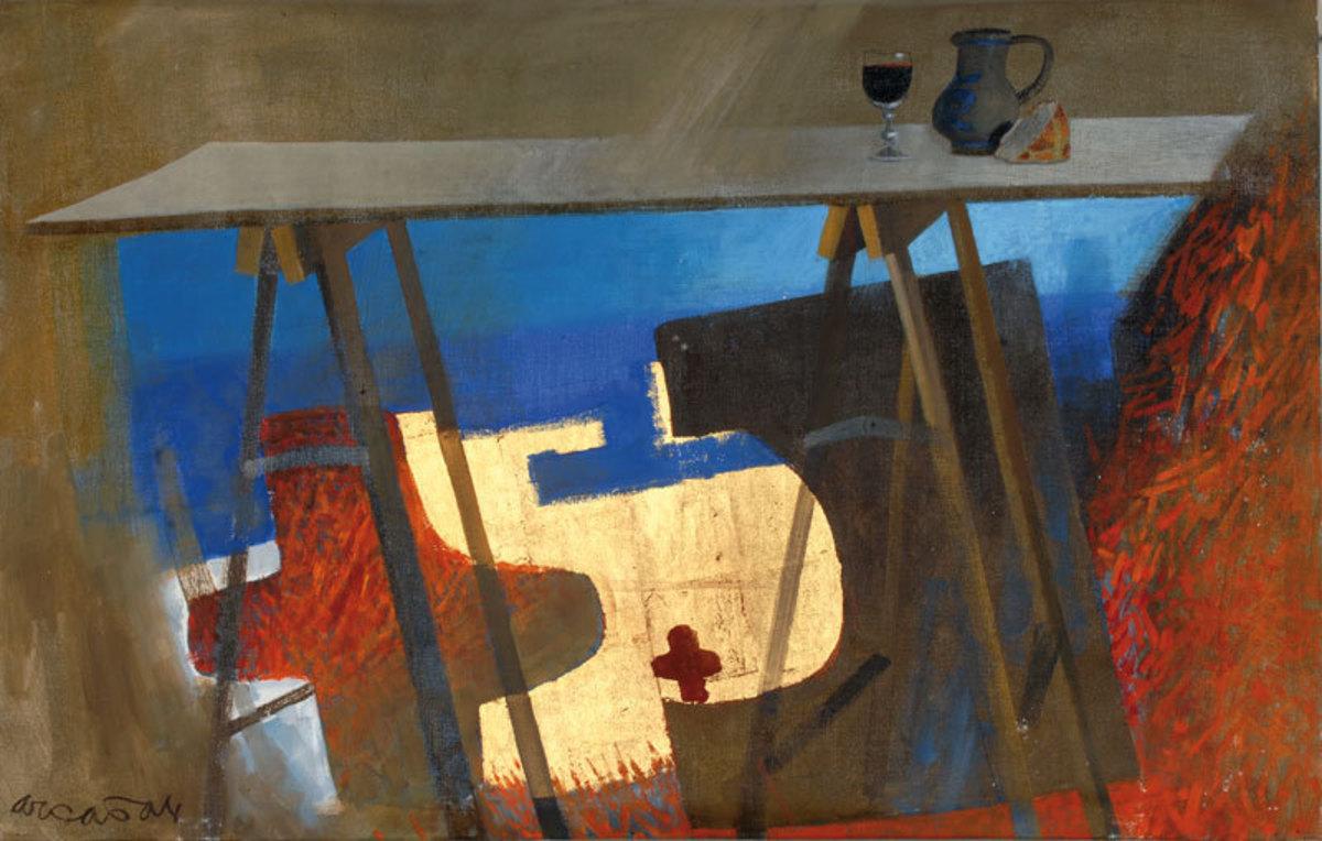Le Pain et le vin Peinture 1985