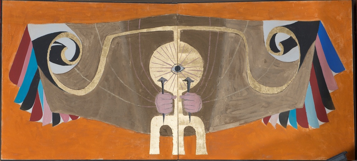 Ange aux clous Peinture 1972