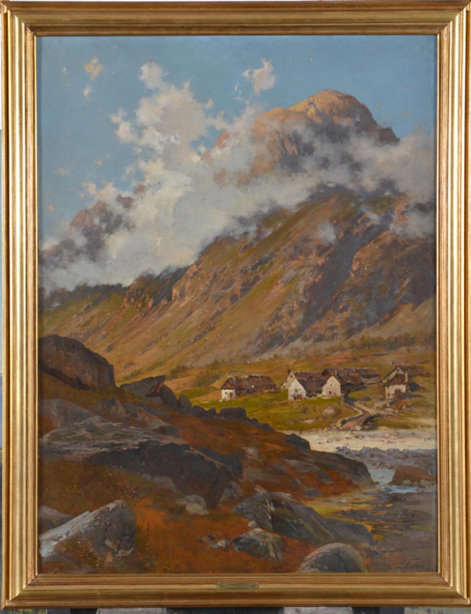 La Bérarde en Oisons et la pointe de la Mage Tableau 1890