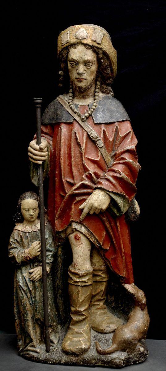 Saint Roch sculpture