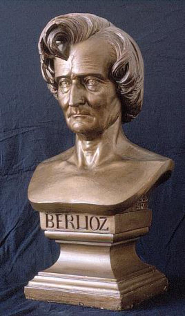 Portrait d'Hector Berlioz Sculpture