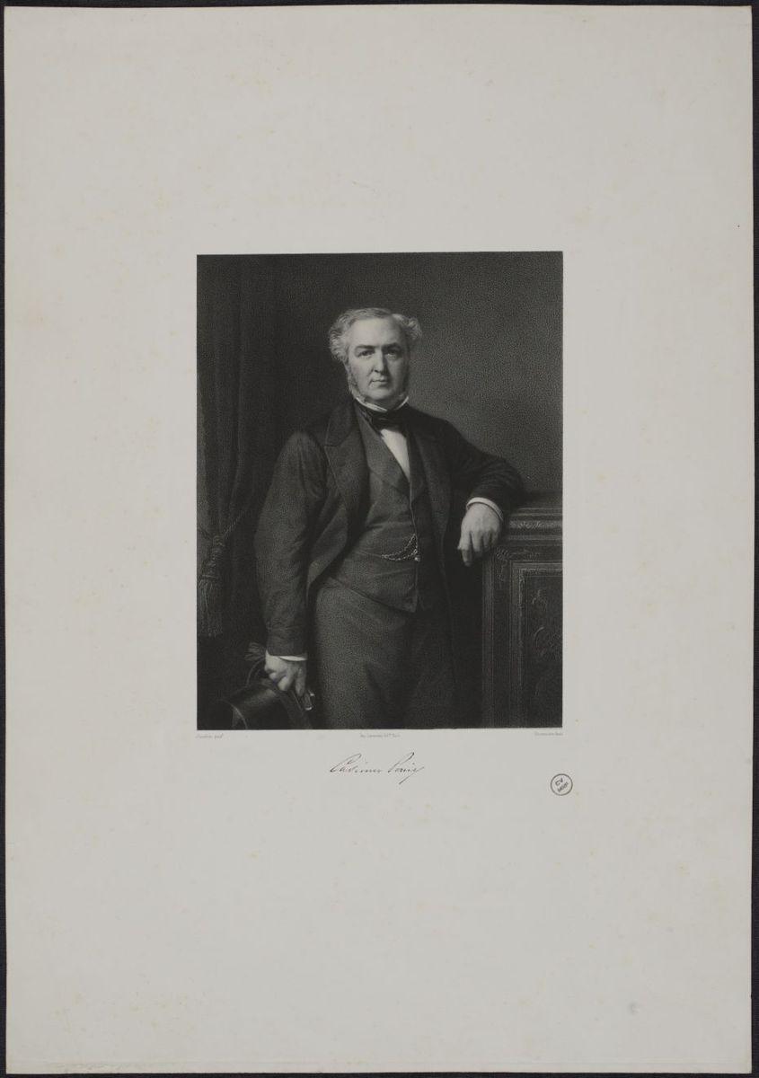 Auguste Casimir-Perier. Lithographie d'après le tableau d' H.Flandrin Estampe