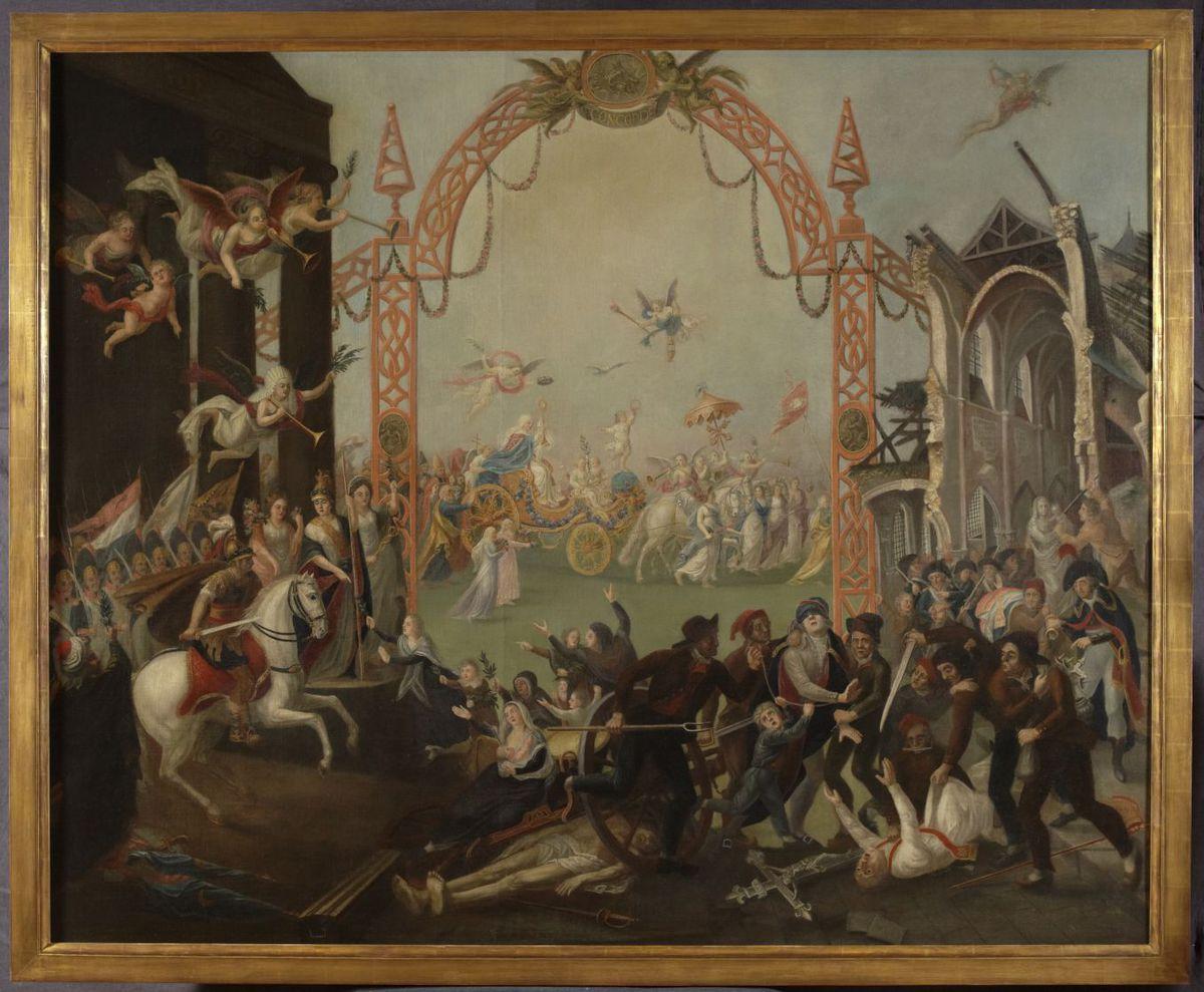 Allégorie contre-révolutionnaire Peinture