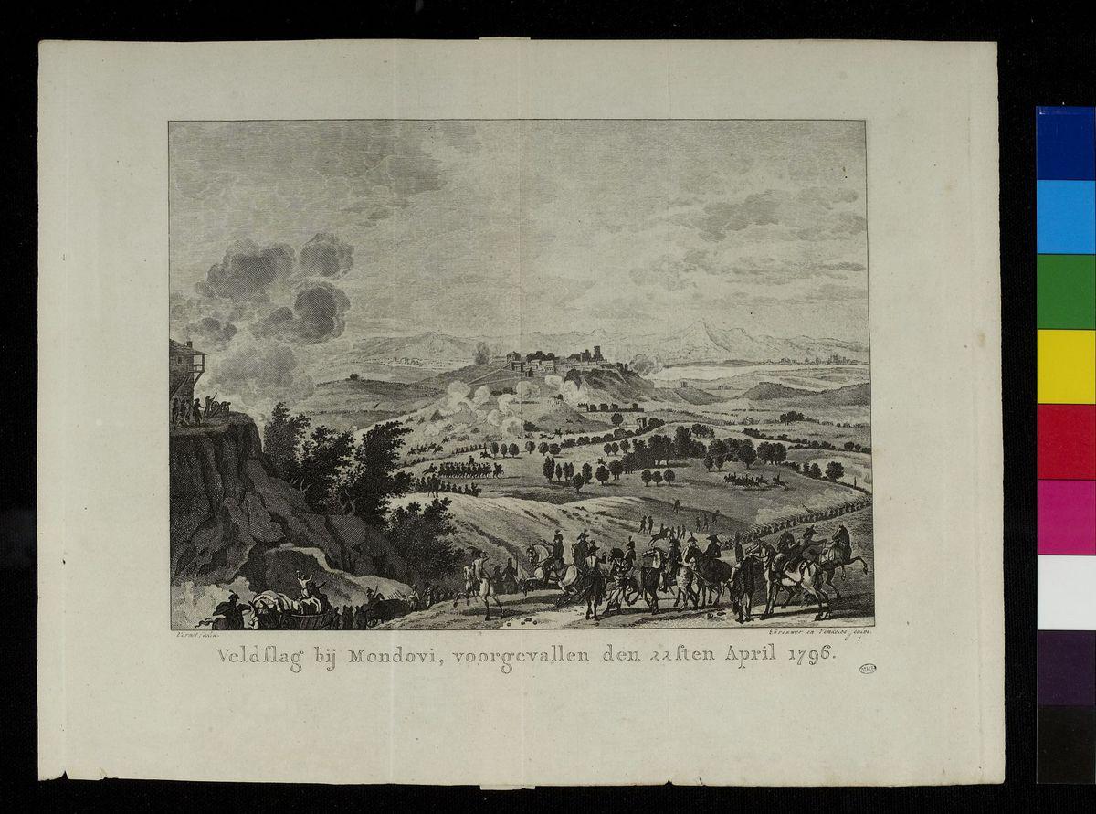 Veldslag bij Mondovi, voorgevallen den 22sten April 1796 Arts graphiques