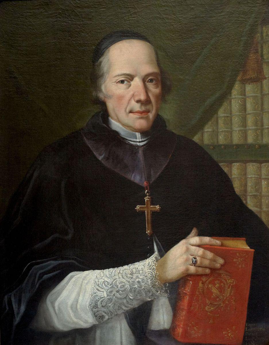 Portrait d'Etienne Galland peinture 1750