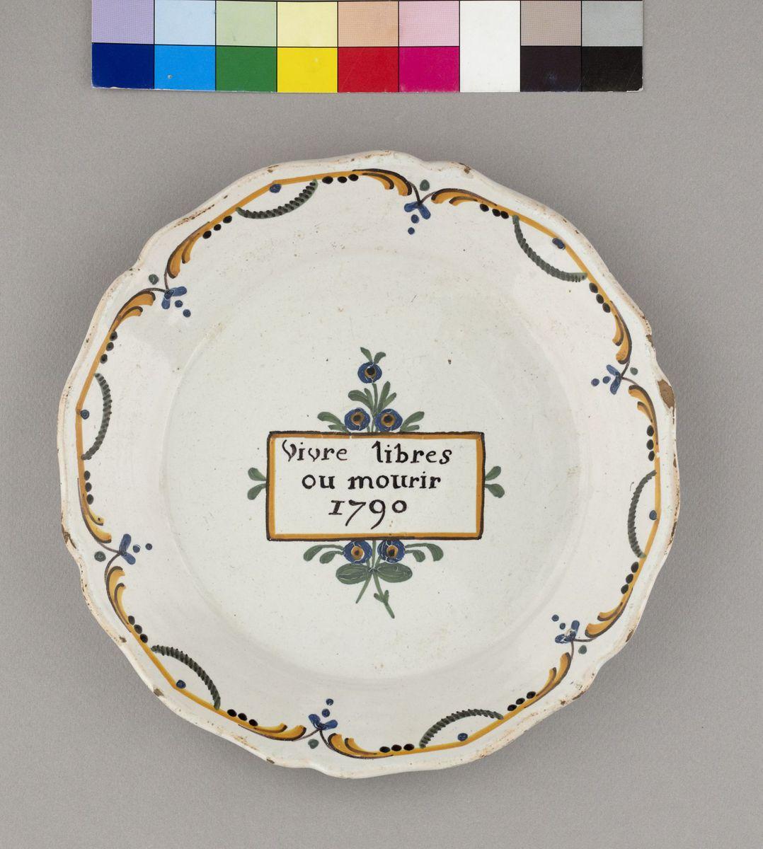 Vivre libres ou mourir 1792 Céramique