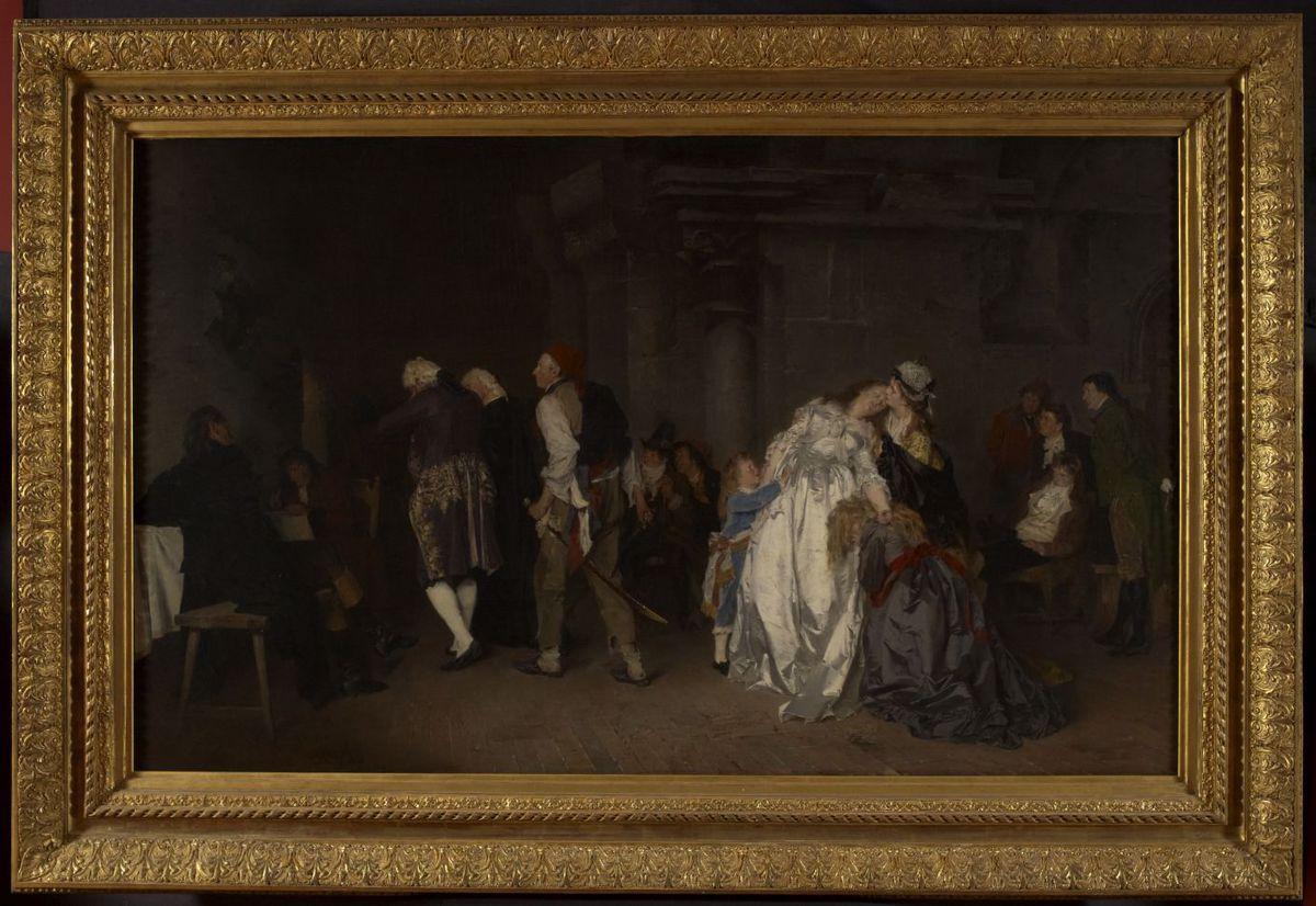La séparation de Louis XVI et sa famille au Temple Peinture