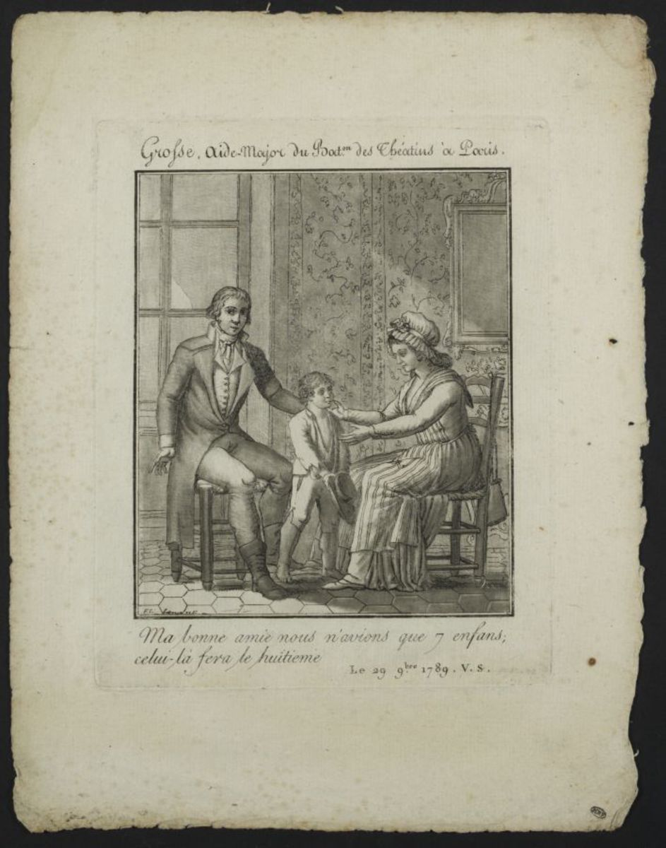Acte de bénéfice de Grosse de Paris, 22 novembre 1789. Estampe