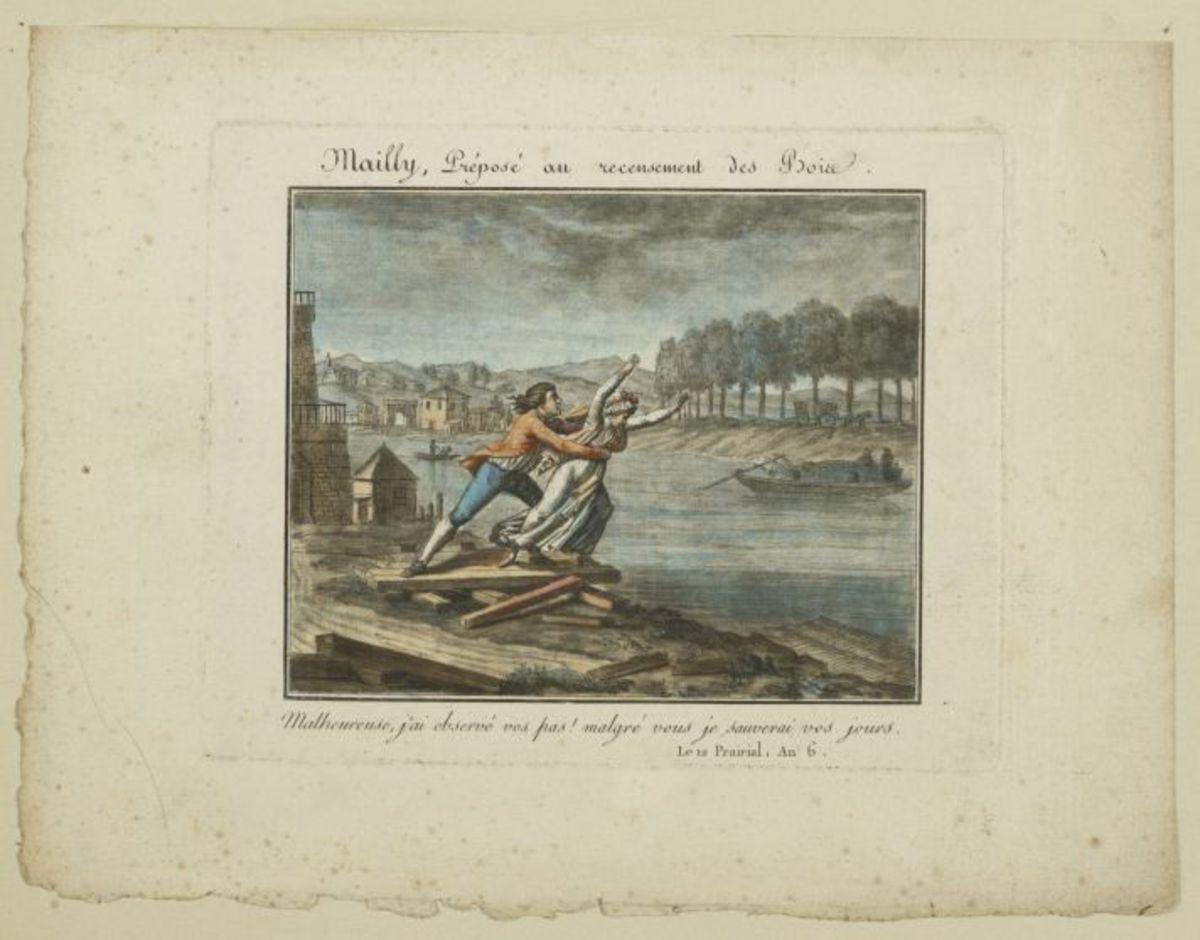 Mailly, préposé au recensement des bois Estampe