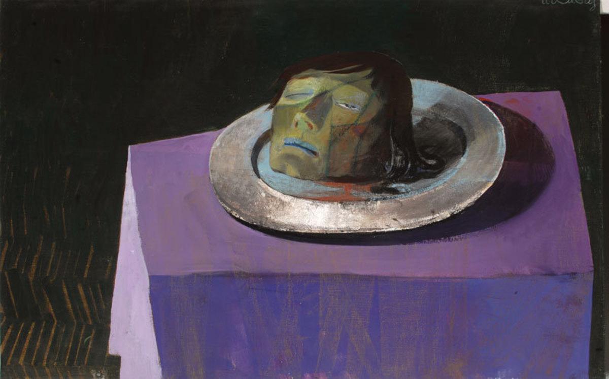 Tête décapitée de Jean-Baptiste Peinture 1985