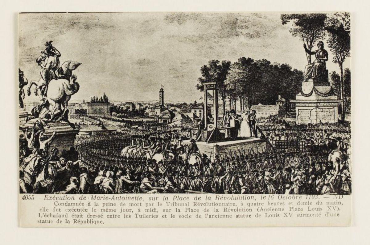 Exécution de Marie-Antoinette Carte postale