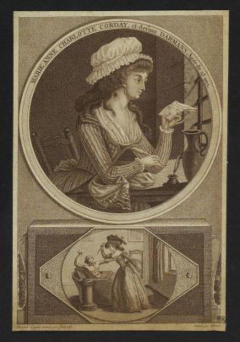 Marie-Anne Charlotte Corday, ci-devant Darmans, âgée de 25 ans Estampe