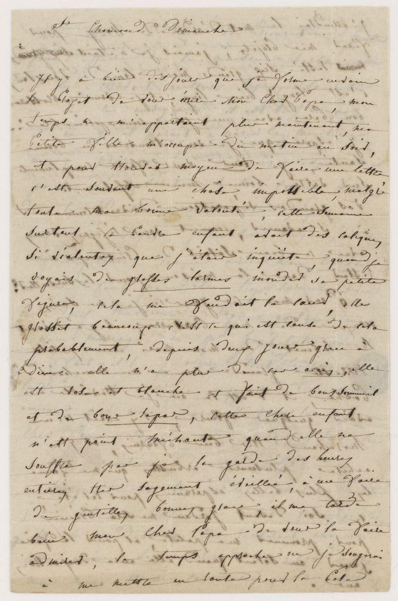 Lettre d'Adèle Suat Berlioz à Louis-Joseph Berlioz Manuscrit 1841