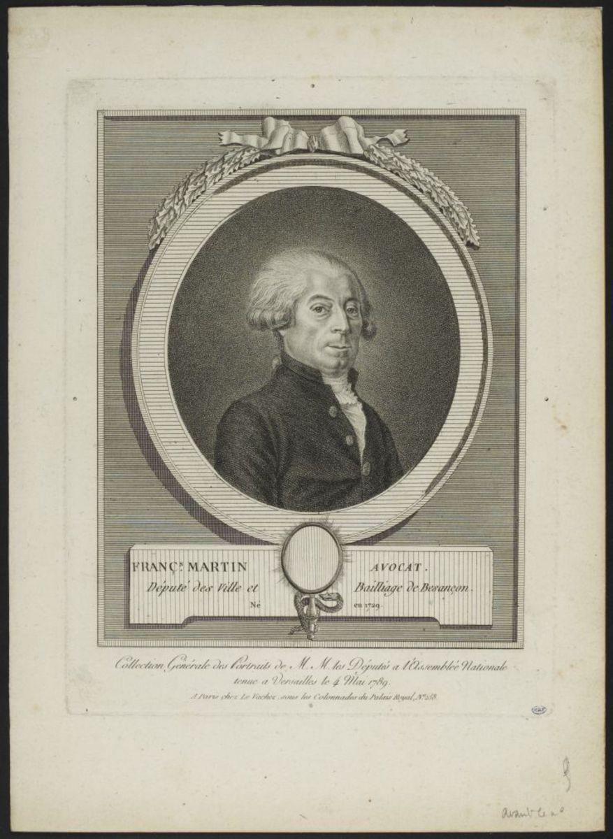 Portrait de François Martin Estampe