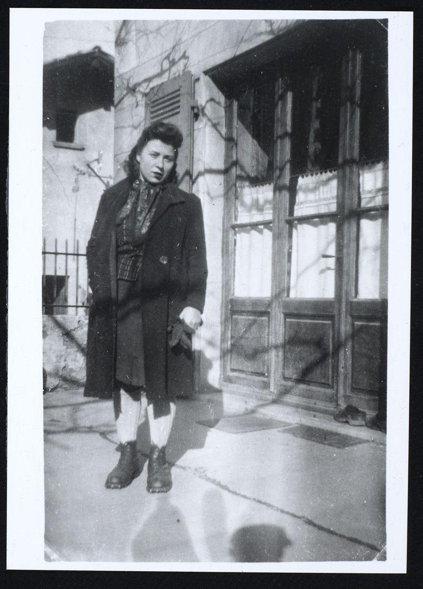 Anne-Marie Mingat-Lerme, Domène, 1944 Photographie 1944