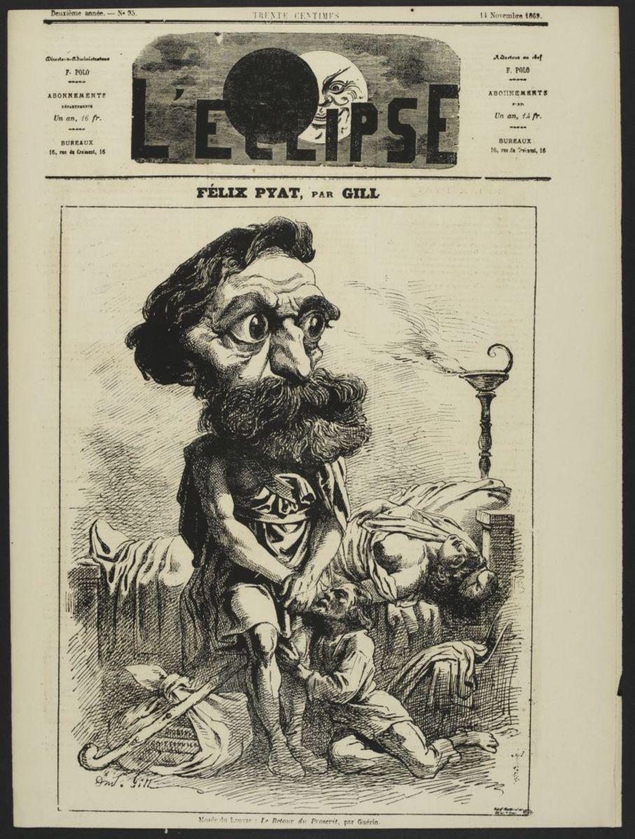 L'Eclipse N°95 du 14 novembre 1869. Félix Pyat Estampe