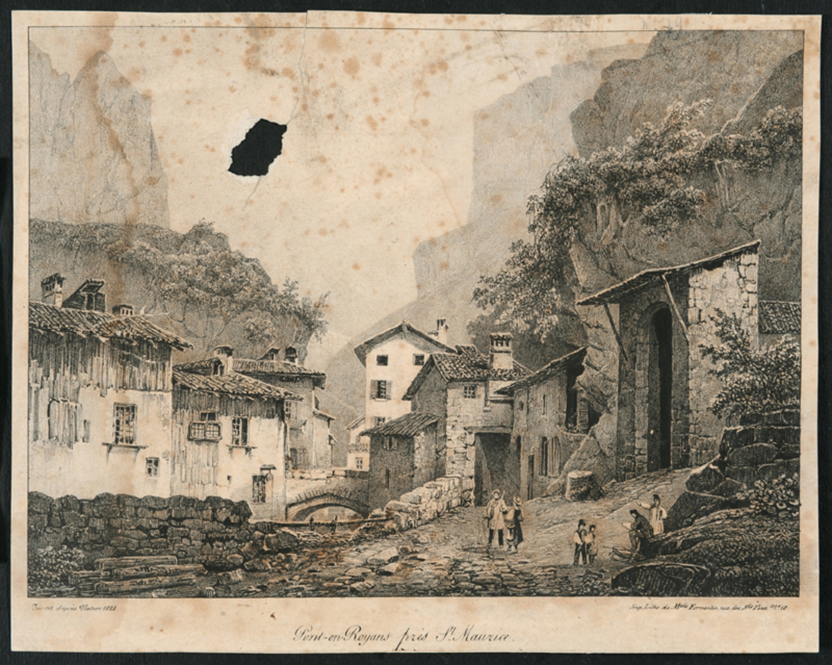Pont-en-Royans Arts graphiques 1828