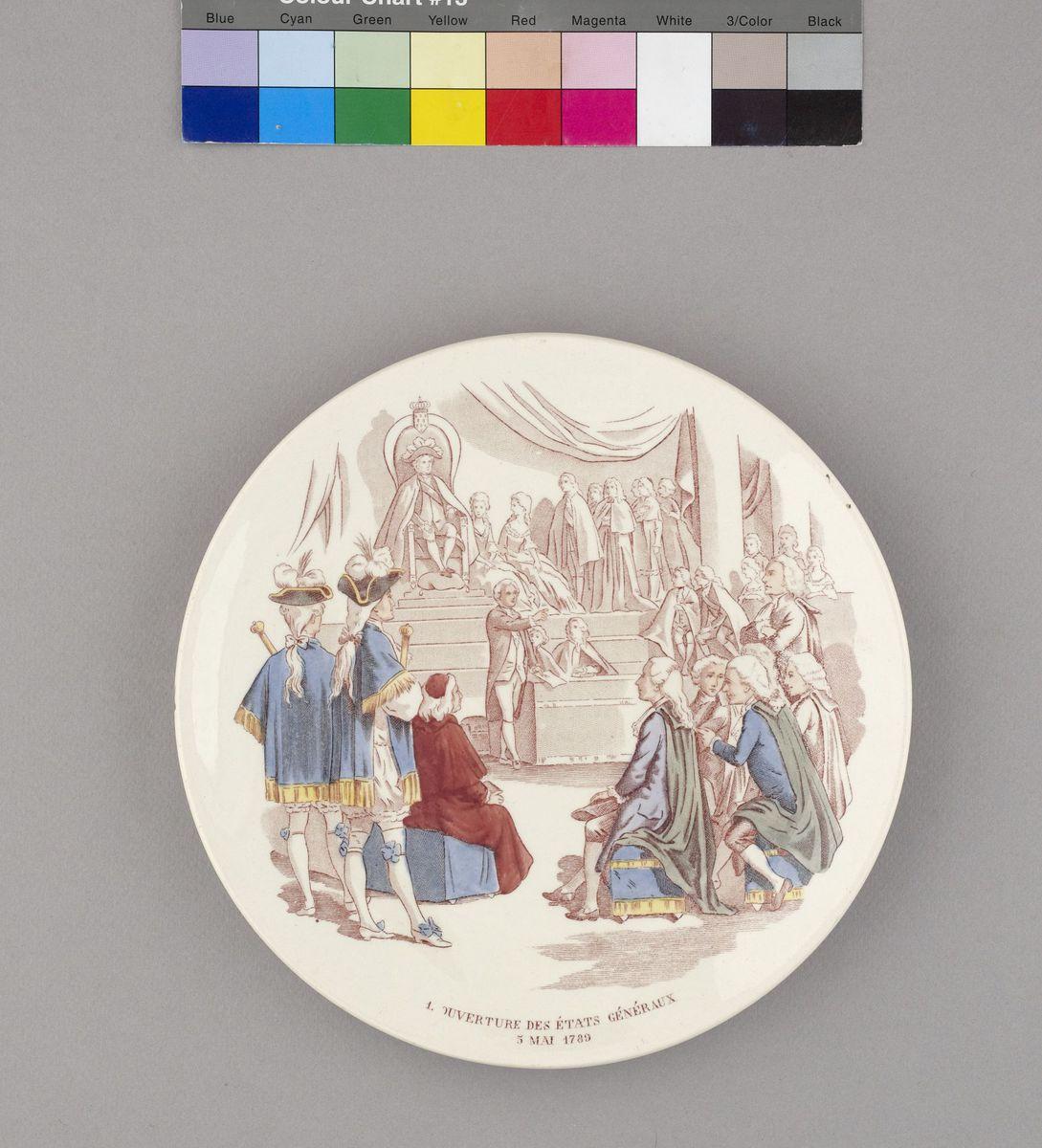 Ouverture des Etats Généraux à Versailles le 5 mai 1789 Céramique