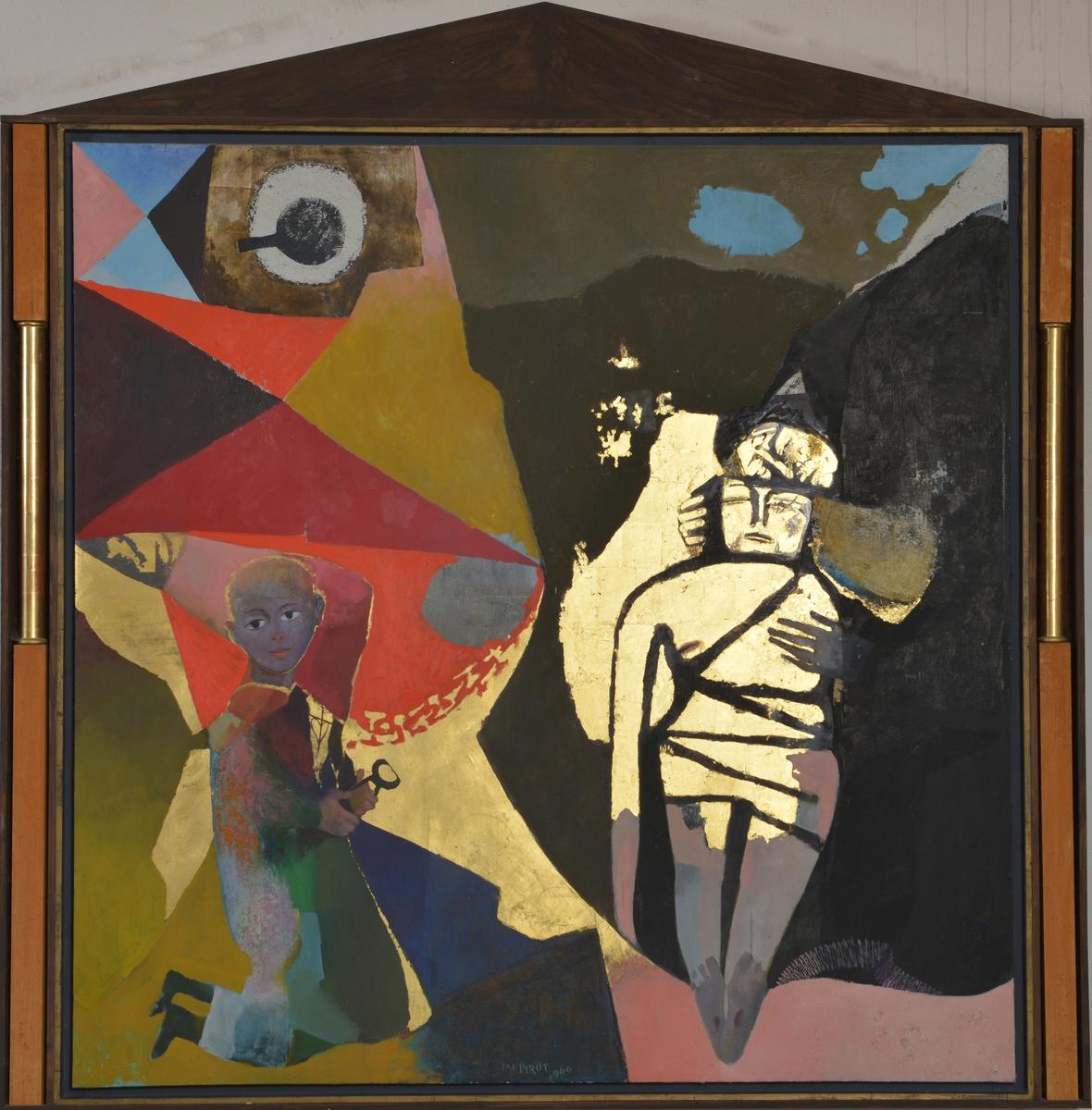 """""""La pièta"""" ou """"Déploration de la Vierge"""" Peinture 1960"""