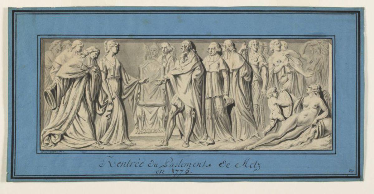 Rentrée du Parlement de Metz en 1775 Dessin
