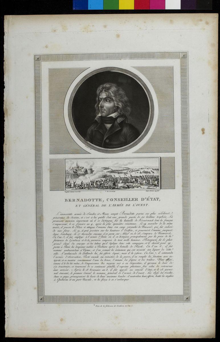 Portrait de Bernadotte Arts graphiques