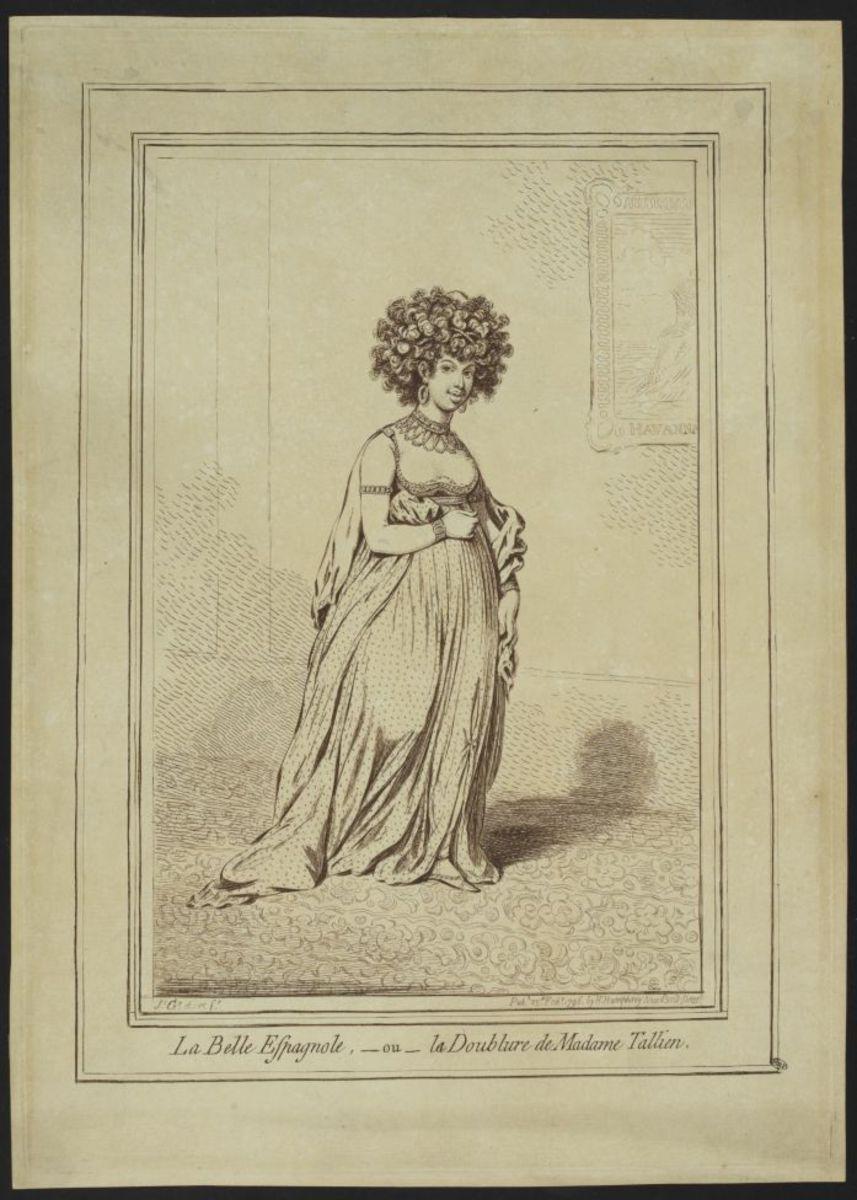 La Belle Espagnole ou la doublure de Madame Tallien Estampe
