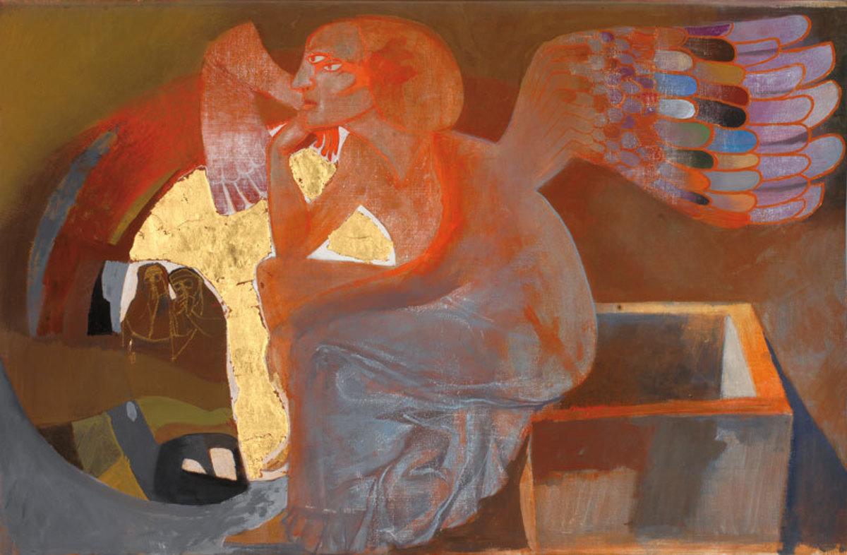 Les Femmes au tombeau Peinture 1985