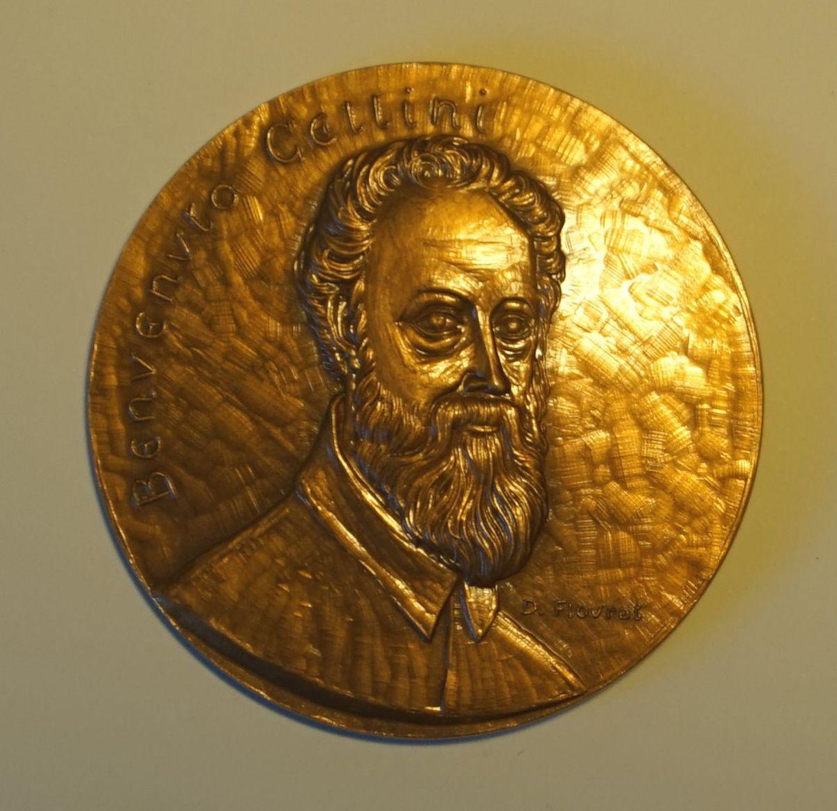 Médaille représentant Benvenuto Cellini (titre factice) Numismatique