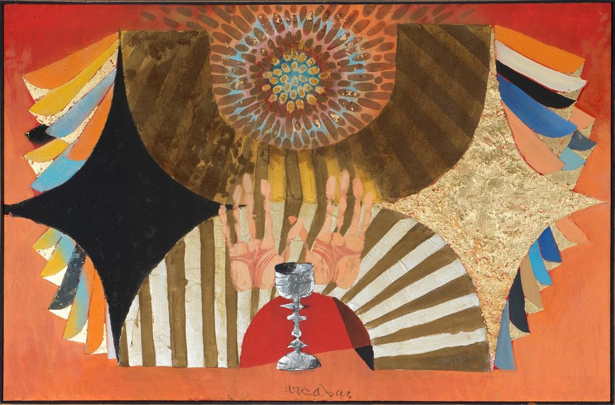 Ange au calice Peinture 1972