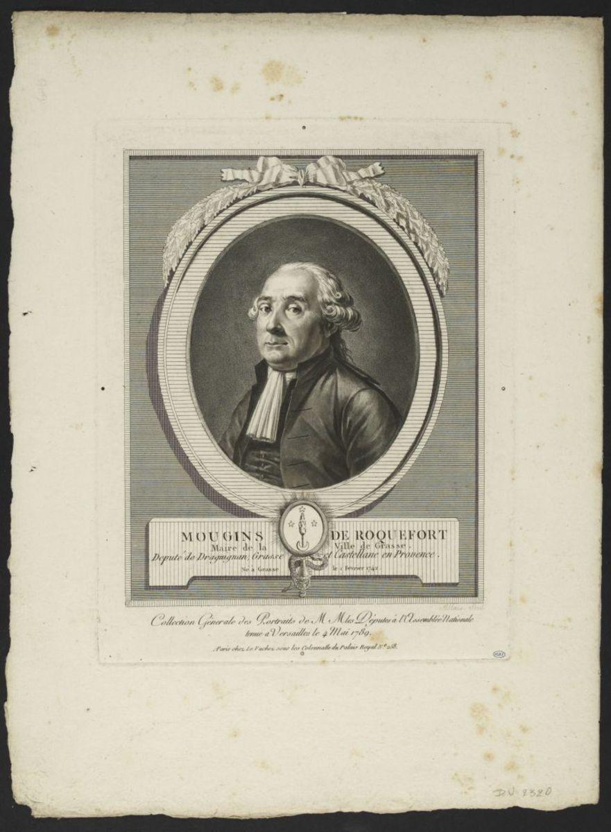 Jean Joseph Mougins de Roquefort. Député de Draguignan, Grasse et Castellane en Provence Estampe