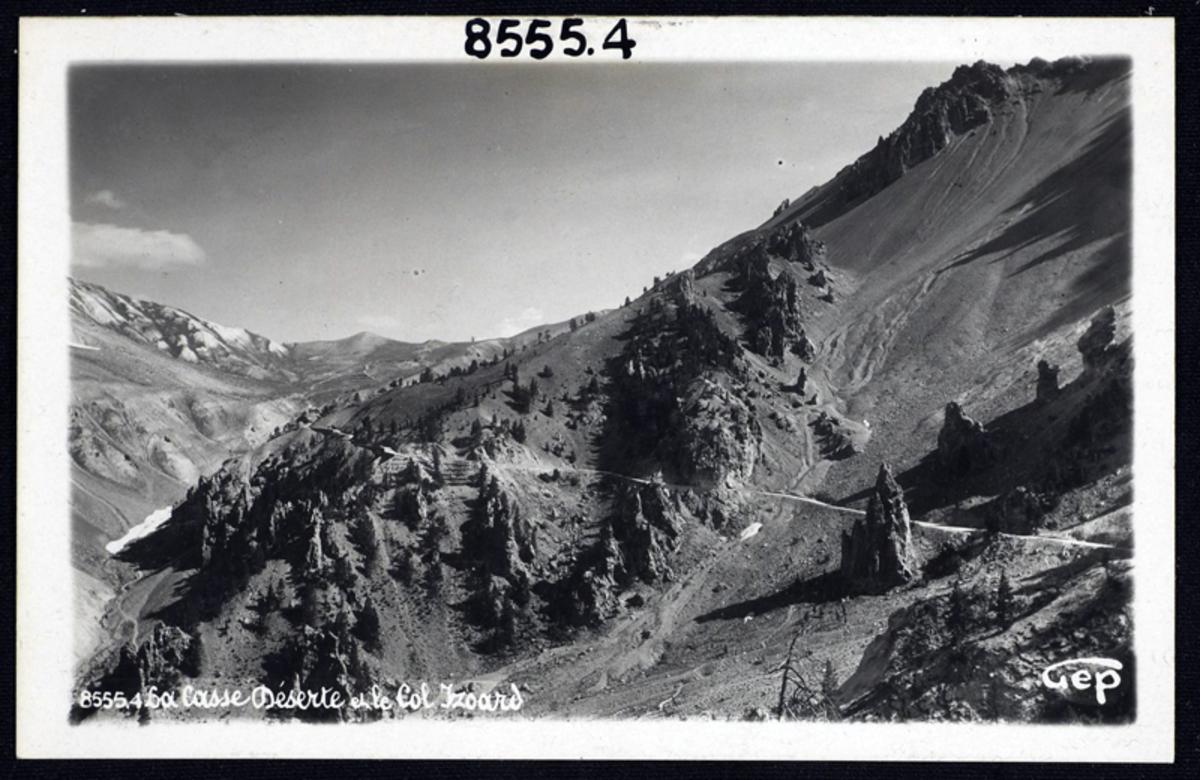Casse Déserte et col d'Izoard Carte postale 20 juillet 1934