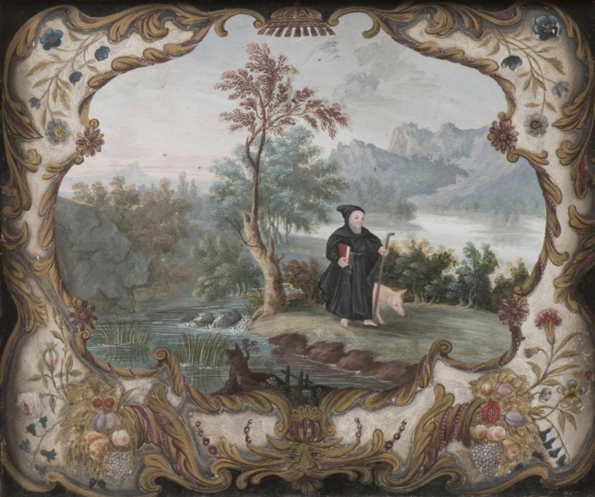 Saint Antoine dans un paysage Arts graphiques 1720
