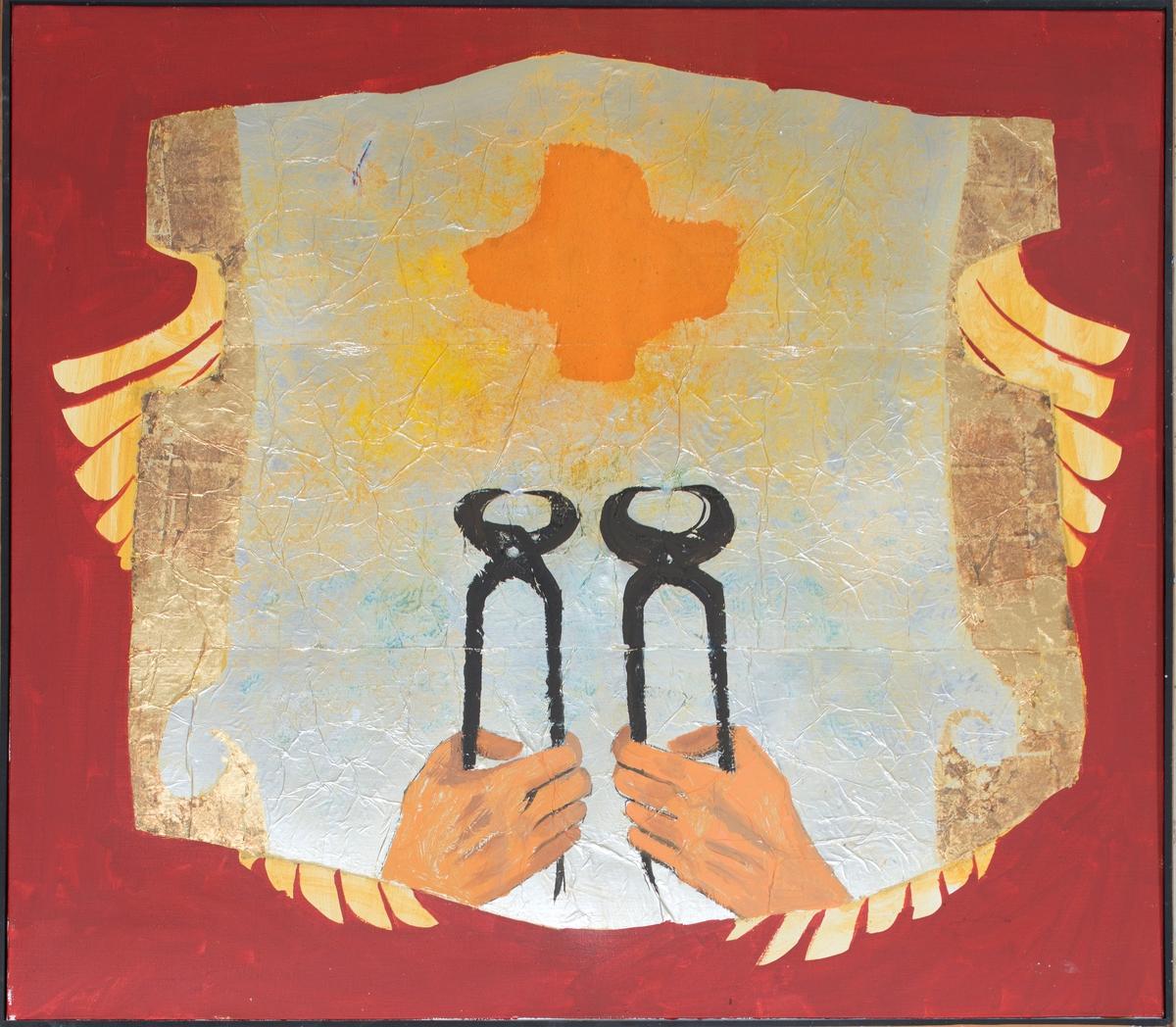 Ange aux tenailles Peinture 1972