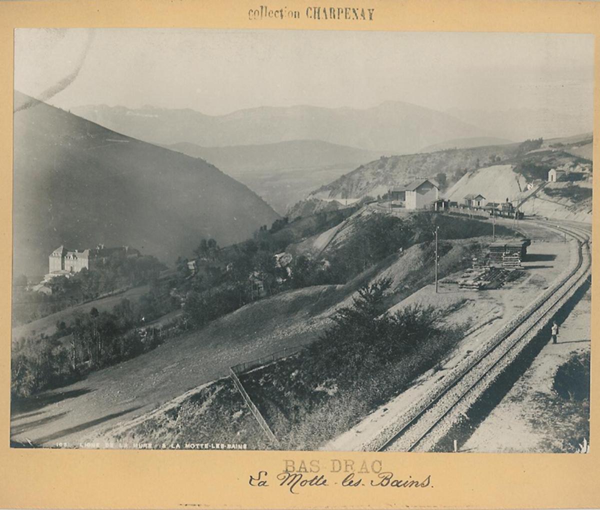 Ligne Saint Georges-La Mure : la gare de La Motte les Bains Photographie