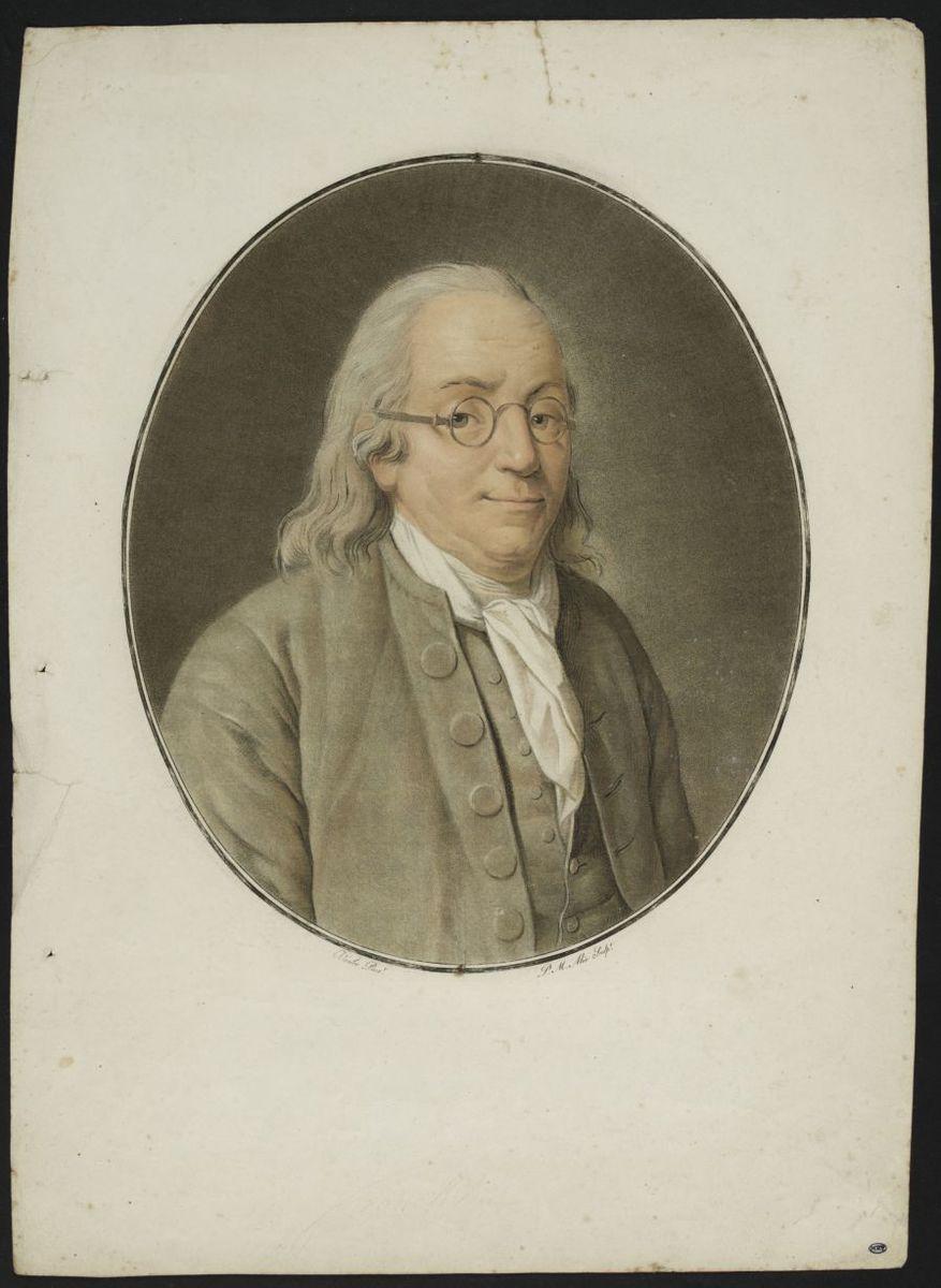 Portrait de Benjamin Franklin Estampe