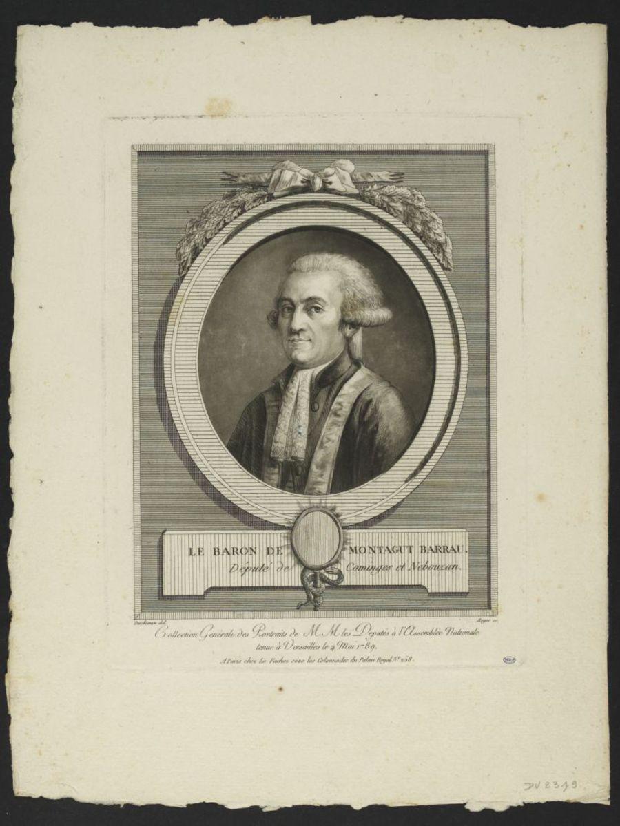 Pierre Elisabeth Denis baron de Montagut-Barreau. Député de Cominges et Nebouzan Estampe