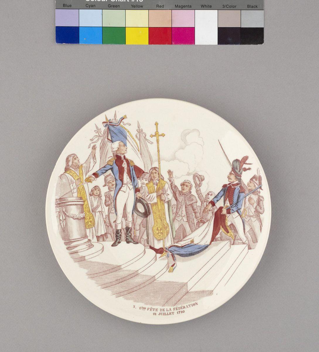 Première Fête de la Fédération, 14 juillet 1790 Céramique