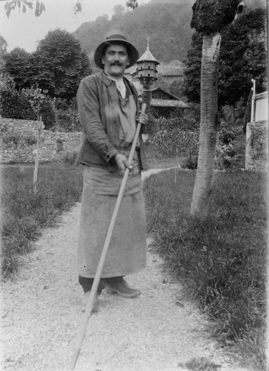 Georges Curt, jardinier Photographie