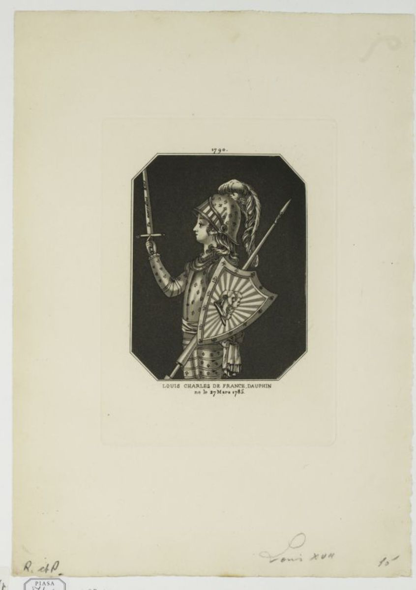 Louis Charles de France, dauphin, né le 27 mars 1785 Estampe