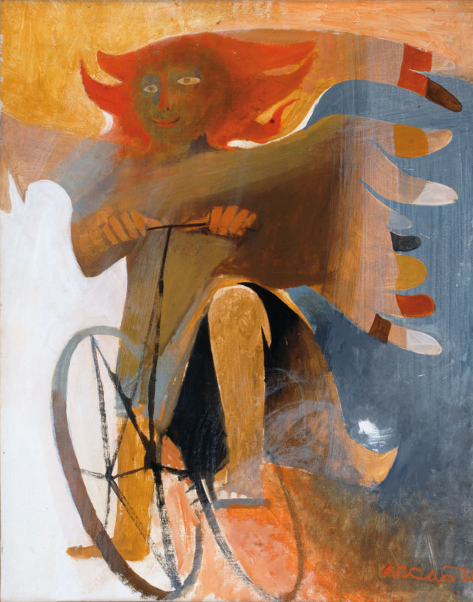 Ange Espiègle Peinture 1986