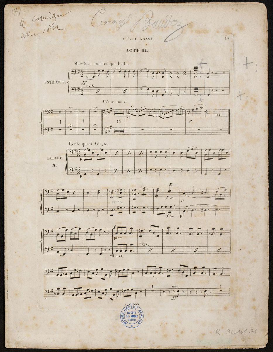 Les Troyens, Acte II Partition 1863
