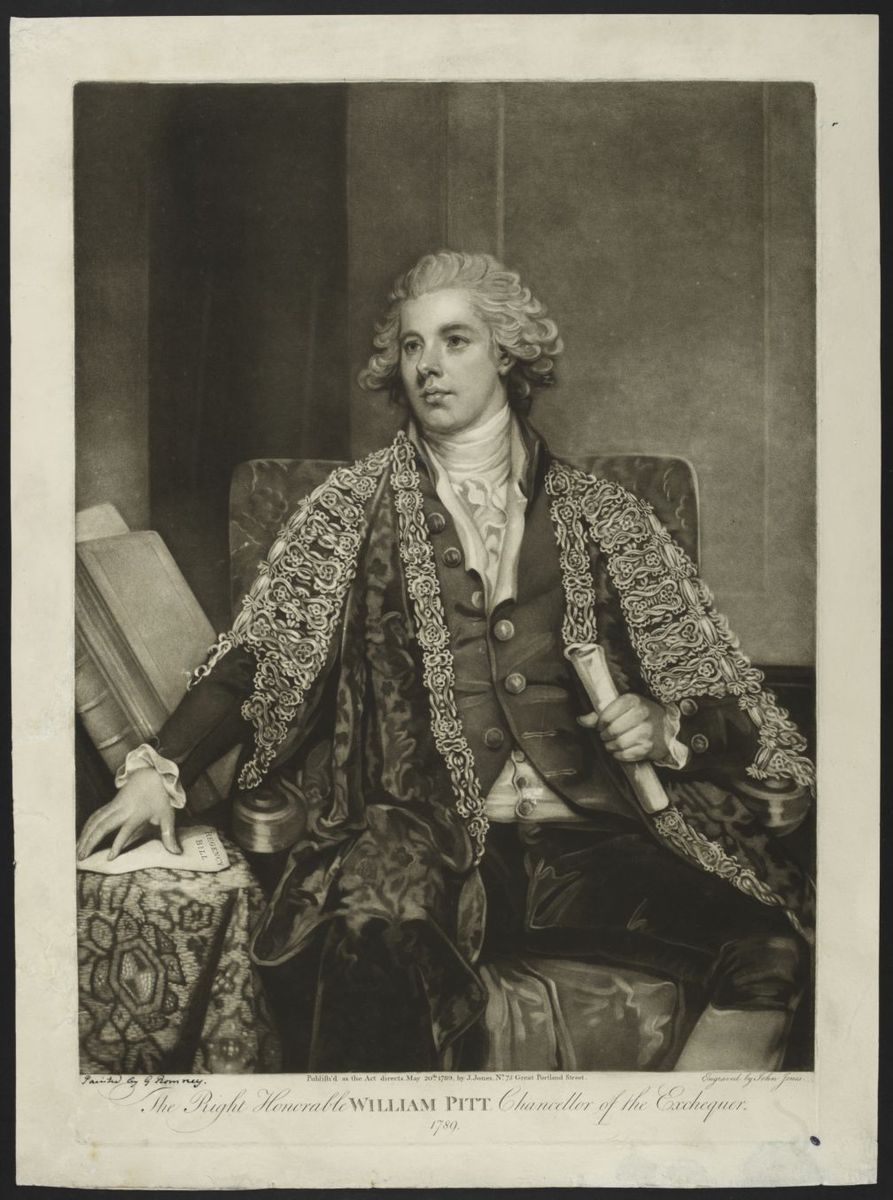The right honorable William Pitt, chancellor of the Exchequer 1789 Estampe