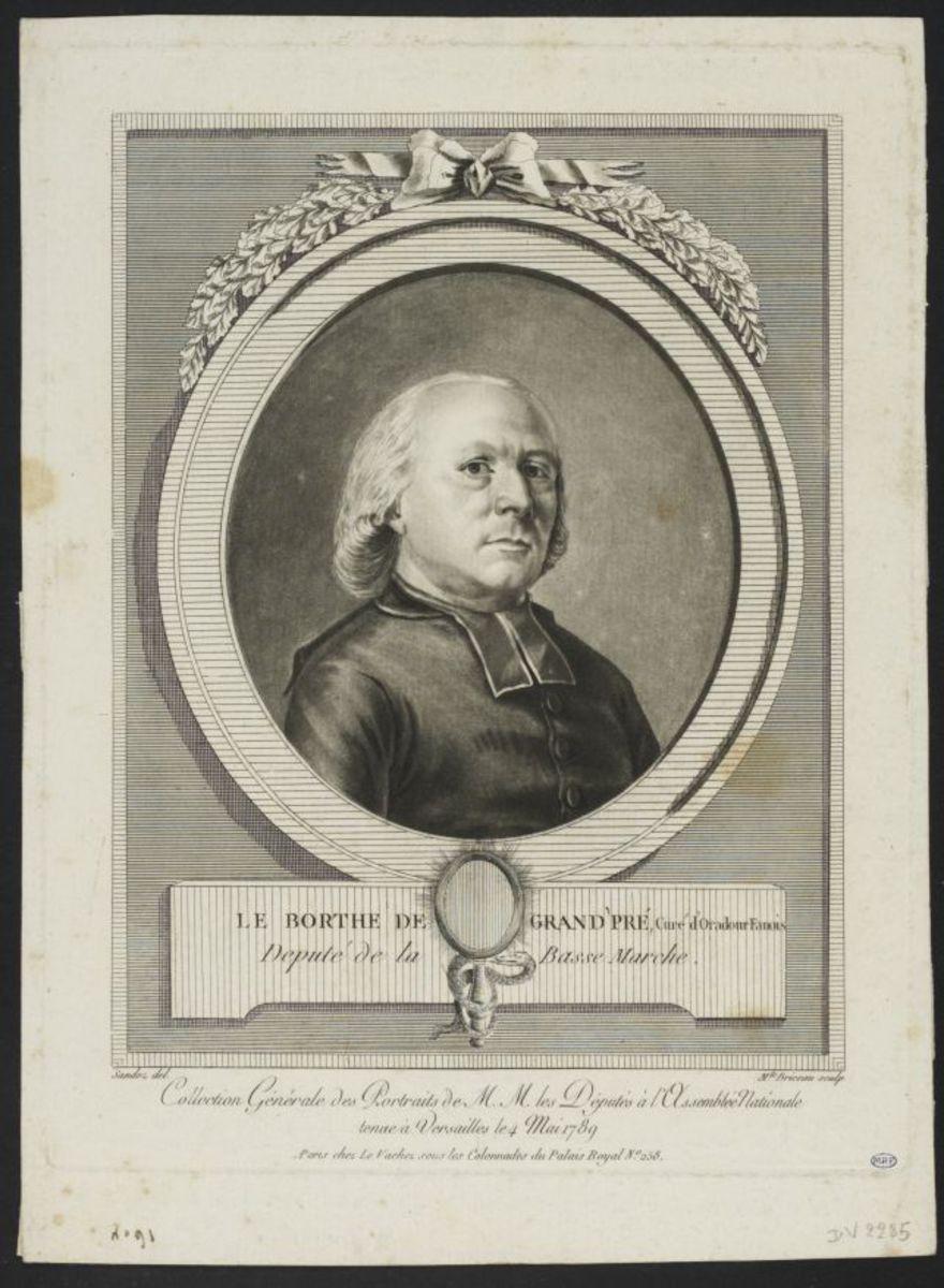 Philippe Le Borlhe de Granpré, curé d'Oradour-Fanais. Député eu clergé de la sénéchaussée de la Basse-Manche Estampe