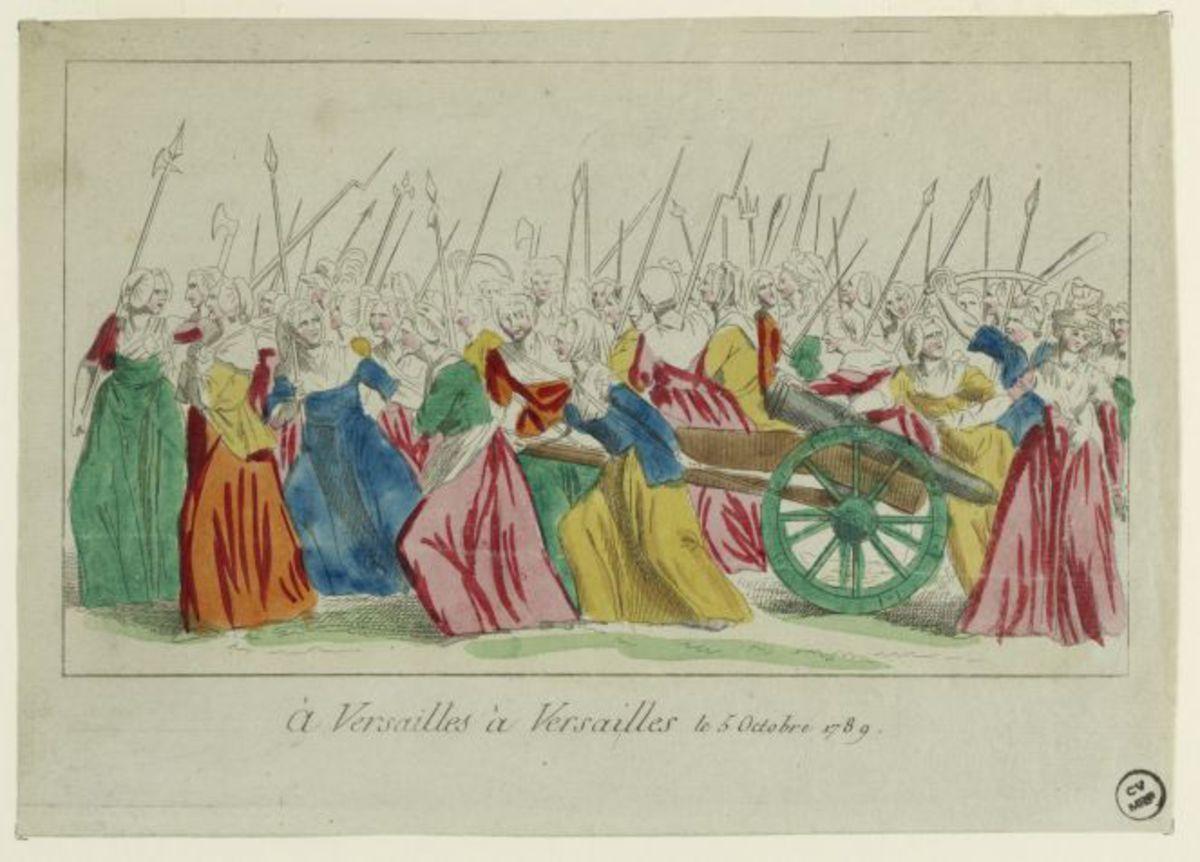 """""""A Versailles, à Versailles"""", le 5 octobre 1789 Estampe"""