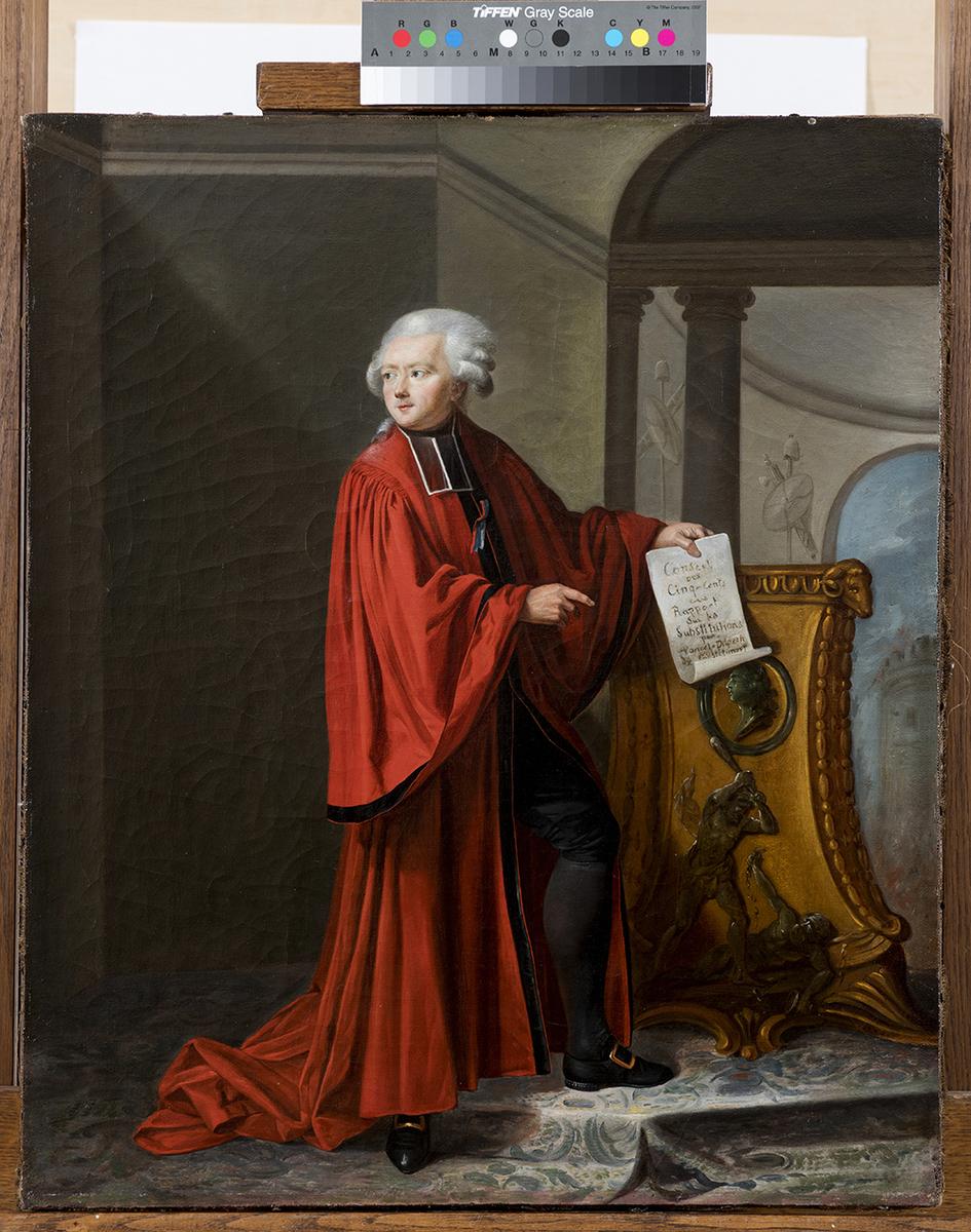 Portrait de Jean-Baptiste Poncet-Delpech député du Tiers état pour le Quercy. peinture