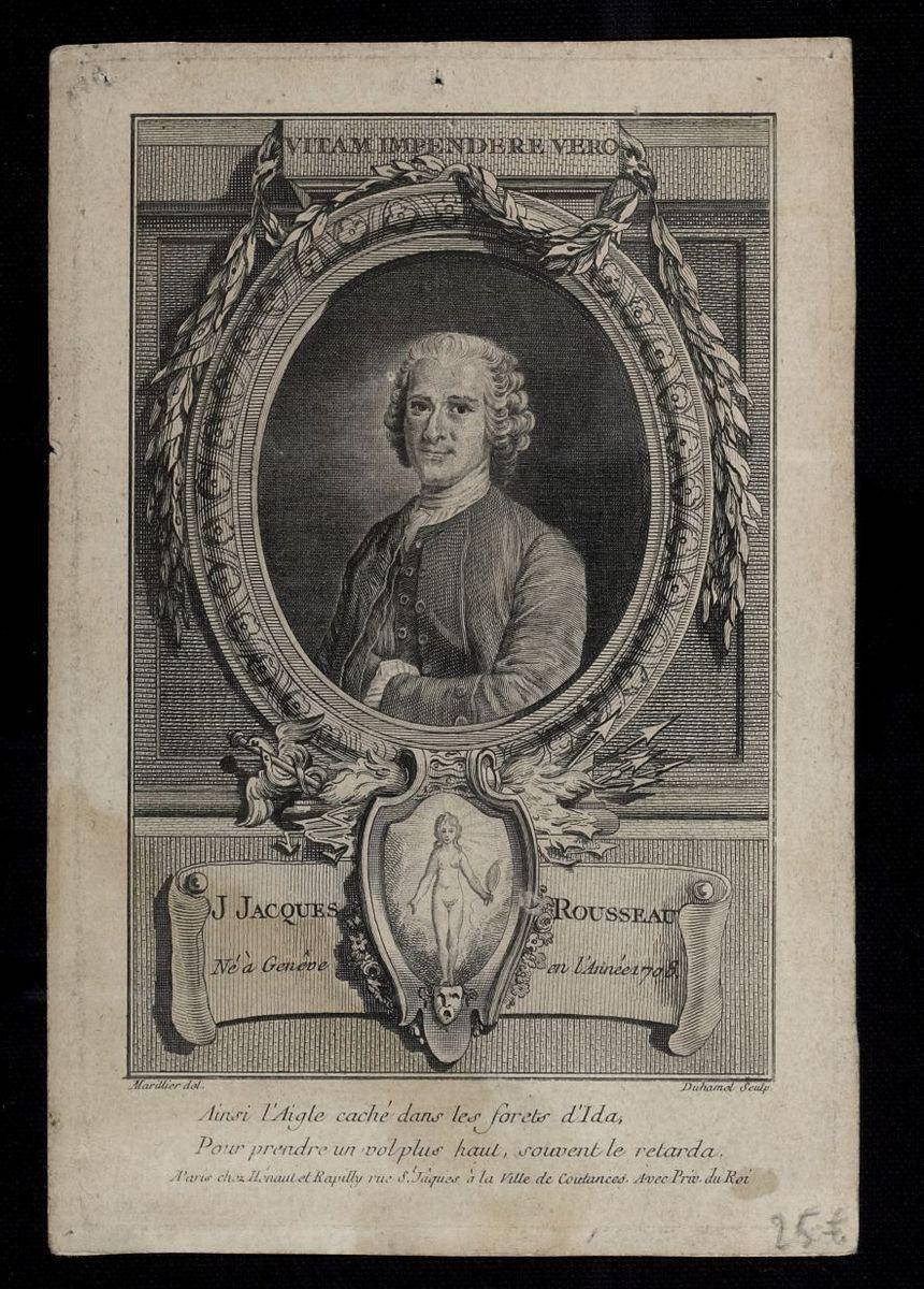 J Jacques Rousseau, né à Genève en l'année 1708 Arts graphiques