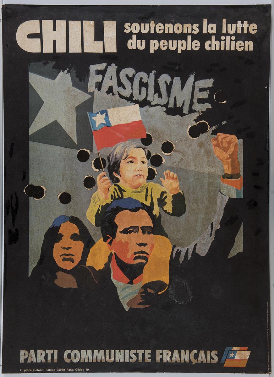 Chili, soutenons la lutte du peuple chilien Affiche octobre 1973
