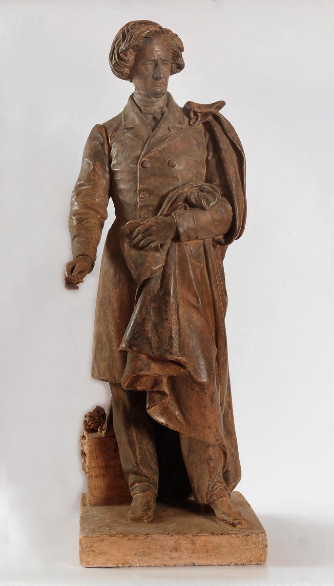Portrait d'Hector Berlioz Sculpture 1880