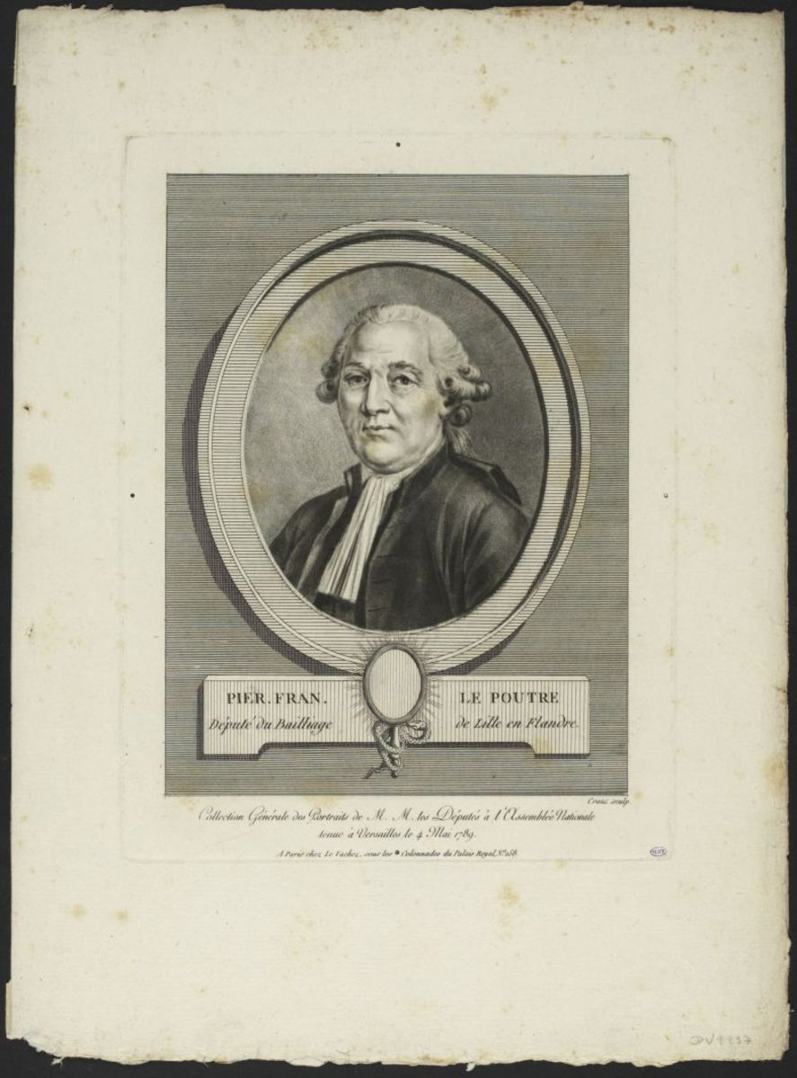 Pierre François Lepoutre. Député du bailliage de Lille en Flandre Estampe